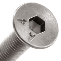 Screw Hex socket flat countersunk head with marking